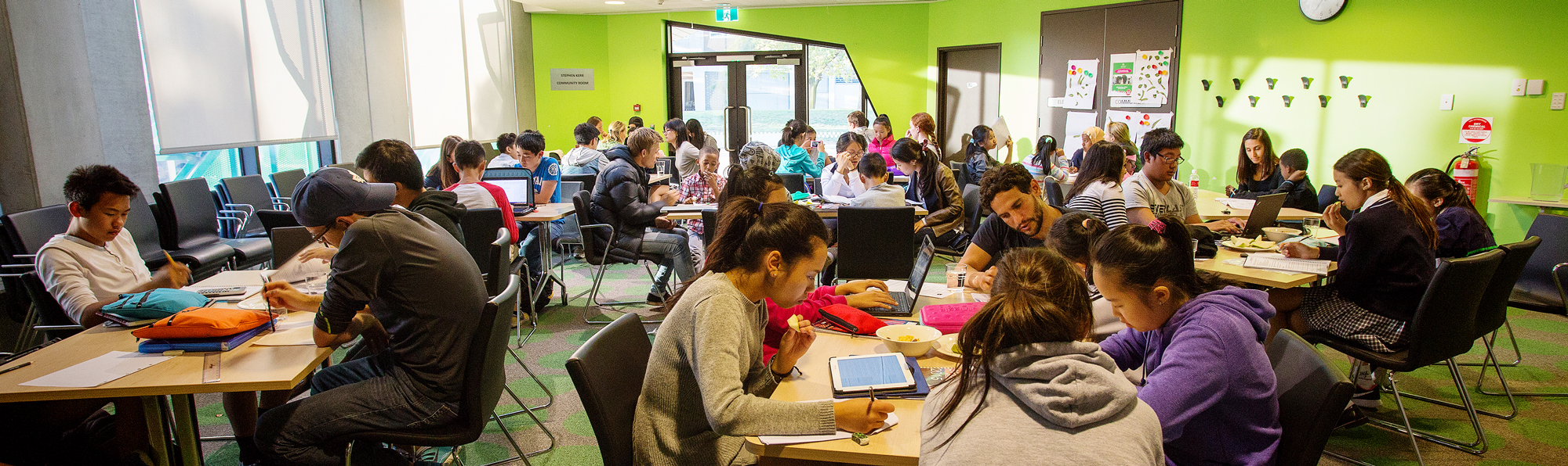 Homework club at North Richmond Community Health (NRCH), support and tutoring