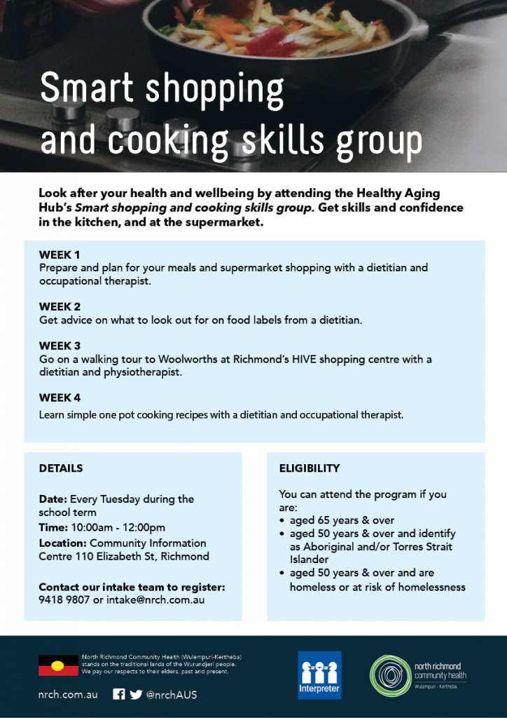 Healthy Aging Hub Smart Shopping and Cooking Class at North Richmond Community Health