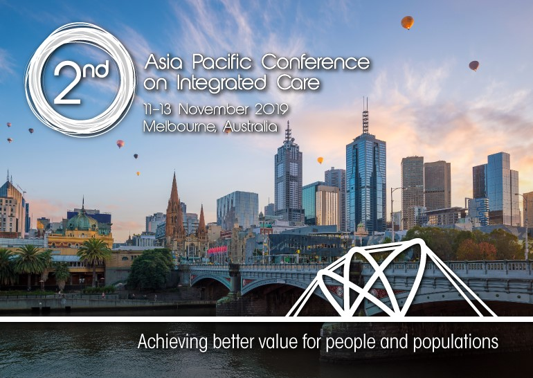 APIC2 – 2nd Asia Pacific Conference on Integrated Care logo against the background of Melbourne's CBD skyline