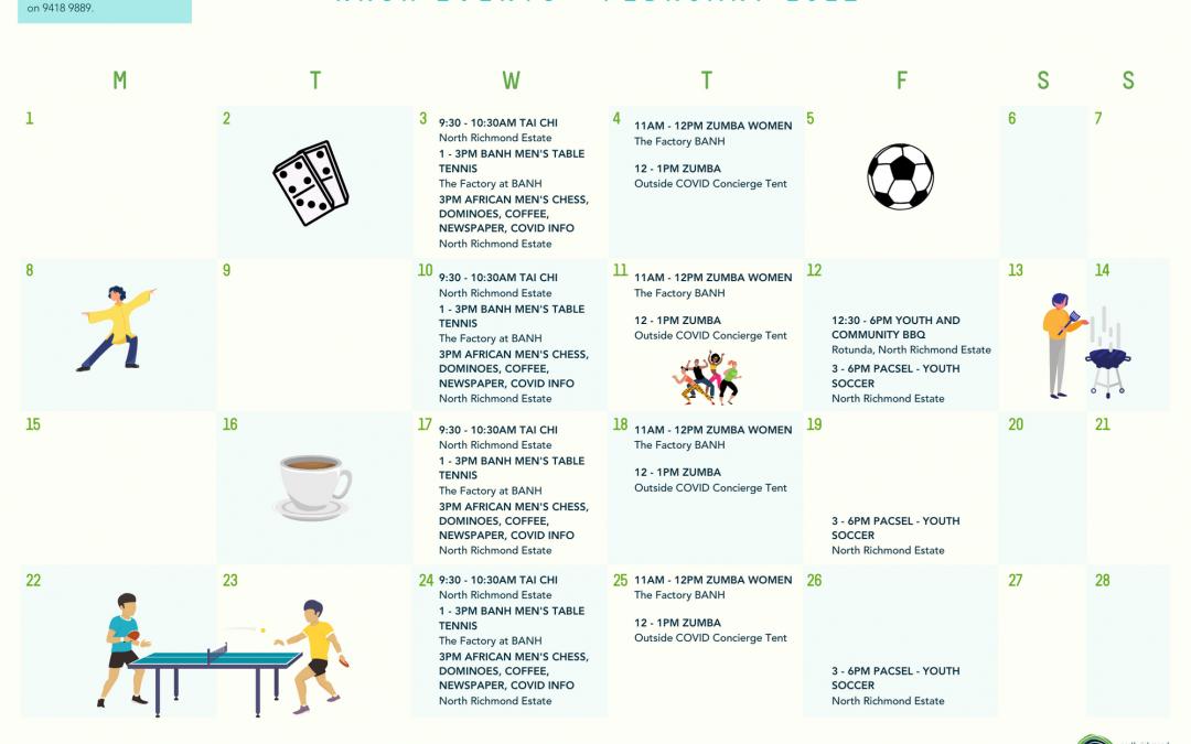 Our February Activities Calendar