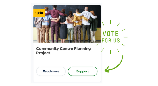 Vote for a new community centre!