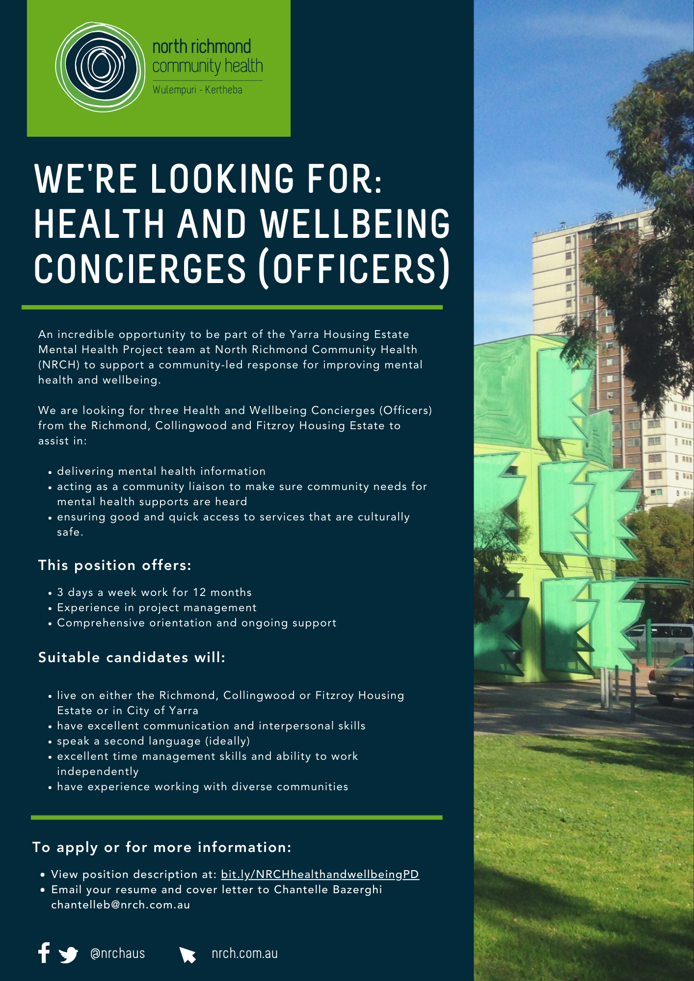 NRCH Health and Wellbeing Concierge EOI 2021